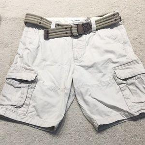 Abercrombie & Fitch Men's Cargo Shorts & Belt